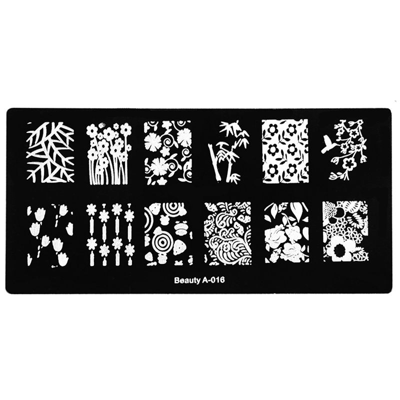 Bamboo for Peace Birds Flower Nail Stamping Plates Konad Stamping ...