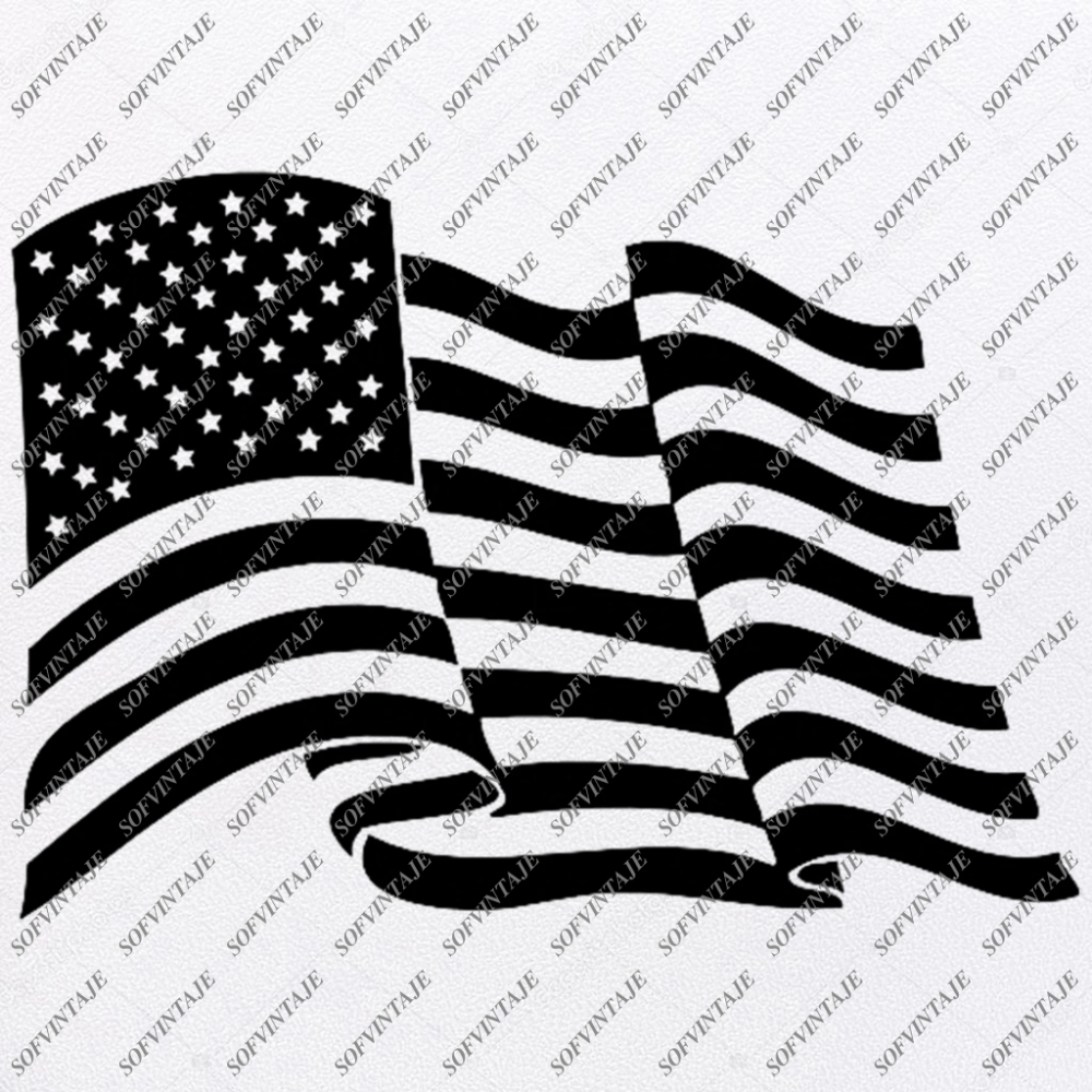 Flag Svg Files Usa Flag Svg Design Original Design Svg Files For Cricut Svg For Silhouette American Flags Clip Art Flags Svg Eps