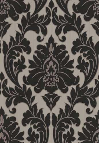 Best Black Damask Grey Damask Wallpaper Bedroom Wallpaper Accent Wall Damask Wallpaper 400 x 300