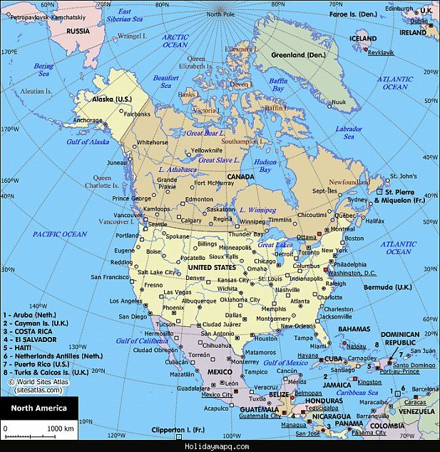 Cool north america map holidaymapq pinterest italy cool north america map gumiabroncs Images