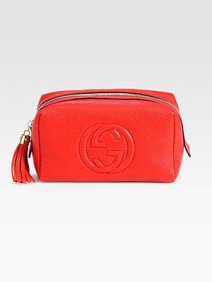 Gucci Soho Medium Leather Cosmetic Case   Handbags   Pinterest ... 32cfdf5f320