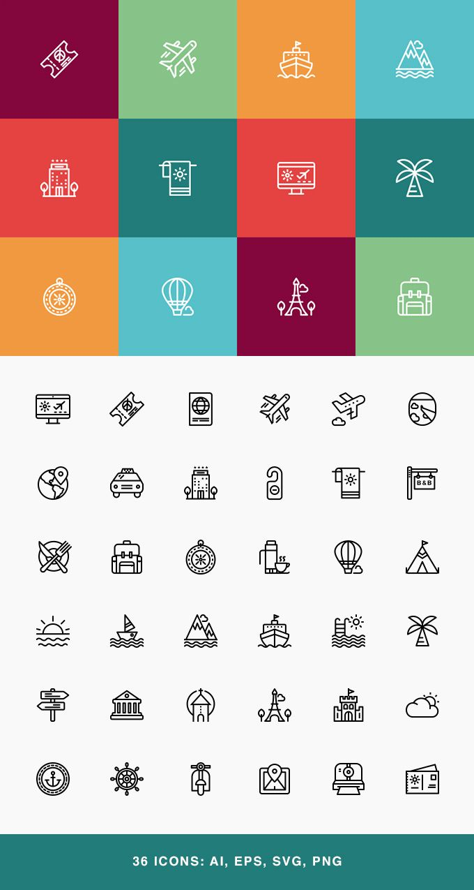 Travel Vacation Icons Set Travel Icon Icon Set Travel Logo