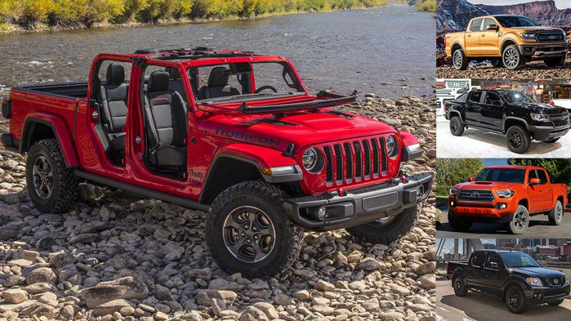 Comparison 2020 Jeep Gladiator Vs 2019 Ford Ranger Chevy