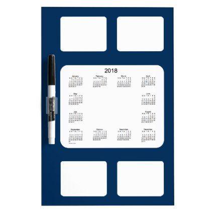 2018 Police Box Blue Dry Erase Calendar by Janz Dry Erase Board