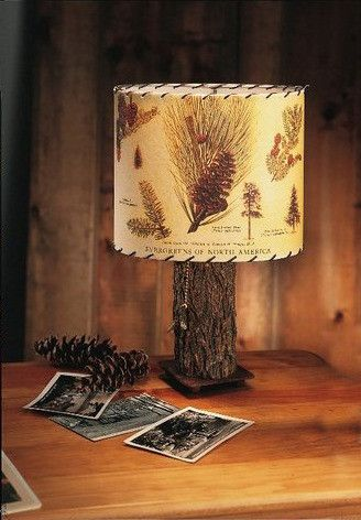 Pine cone lamp shade pine cone pine and cabin pine cone lamp shade aloadofball Image collections
