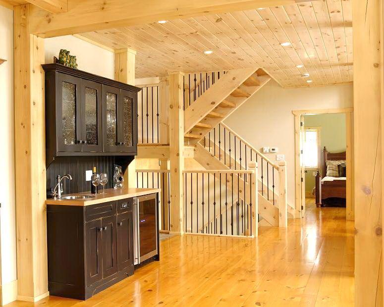 Modern Log Homes inside | Nordica...ModernLogCabins | Pinterest ...