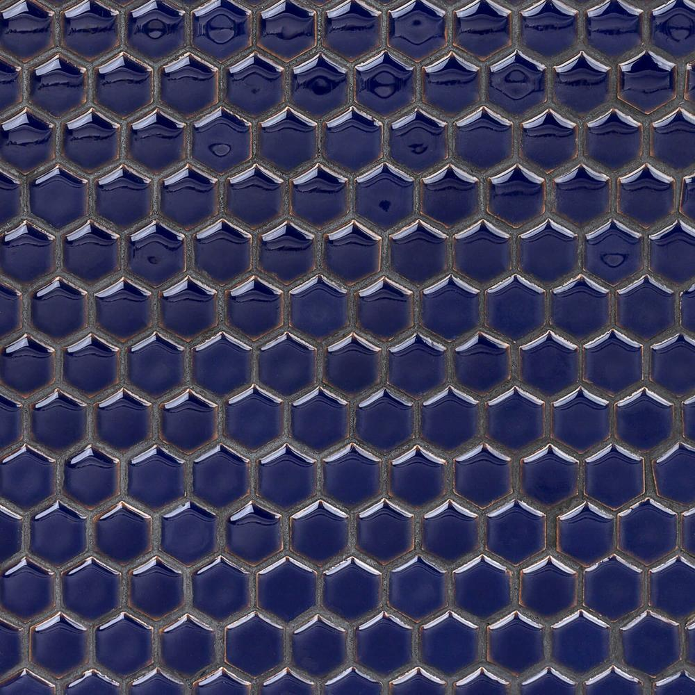 Ivy Hill Tile Bliss Edged Hexagon Midnight Blue 12 In X 12 In X