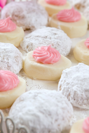 Butter Meltaways with Pink Frosting #pauladeen