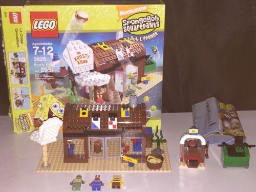 Lego Spongebob Squarepants Krusty Krab 3825 Box Instructions Lego