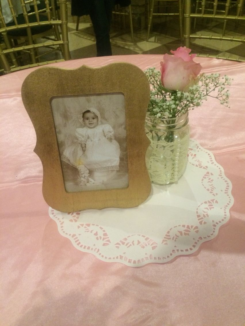 Diy Table Centerpiece For Baptism Or First Birthday