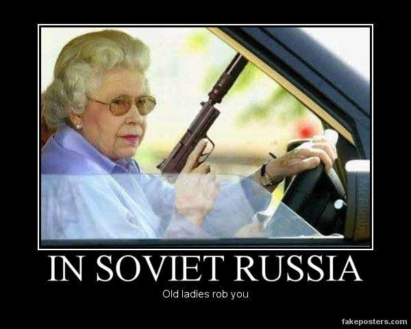 In Soviet Russia General Humor Laughter Road Rage