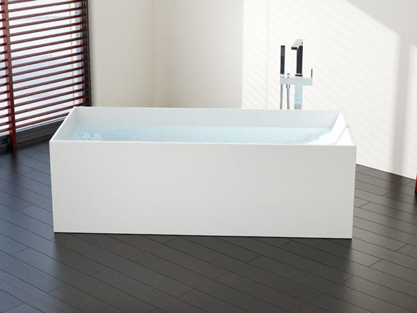 Photo of Rectangular Freestanding Bathtub – Model BW-06-L | Badeloft USA