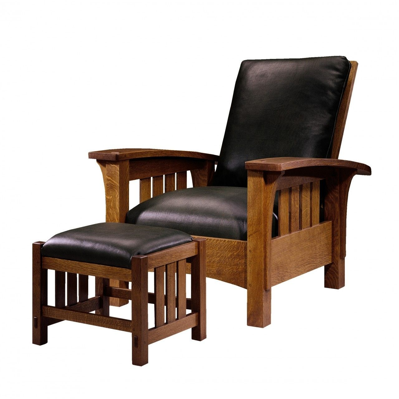 Mission chair leather - Chair Stickley Fine Furniture Toms Price