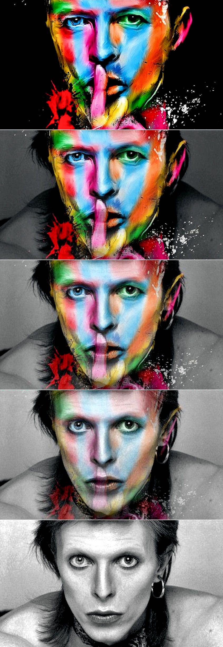 "David Bowie Morphing Beautiful pictures of David Bowie that blend together with using Morphing. Music titel: ""Visions and Sounds"" by Karpa. Watch: https://www.facebook.com/Drakre52/videos/787084781419107/ or http://youtu.be/JOrzJ2dU5OA"
