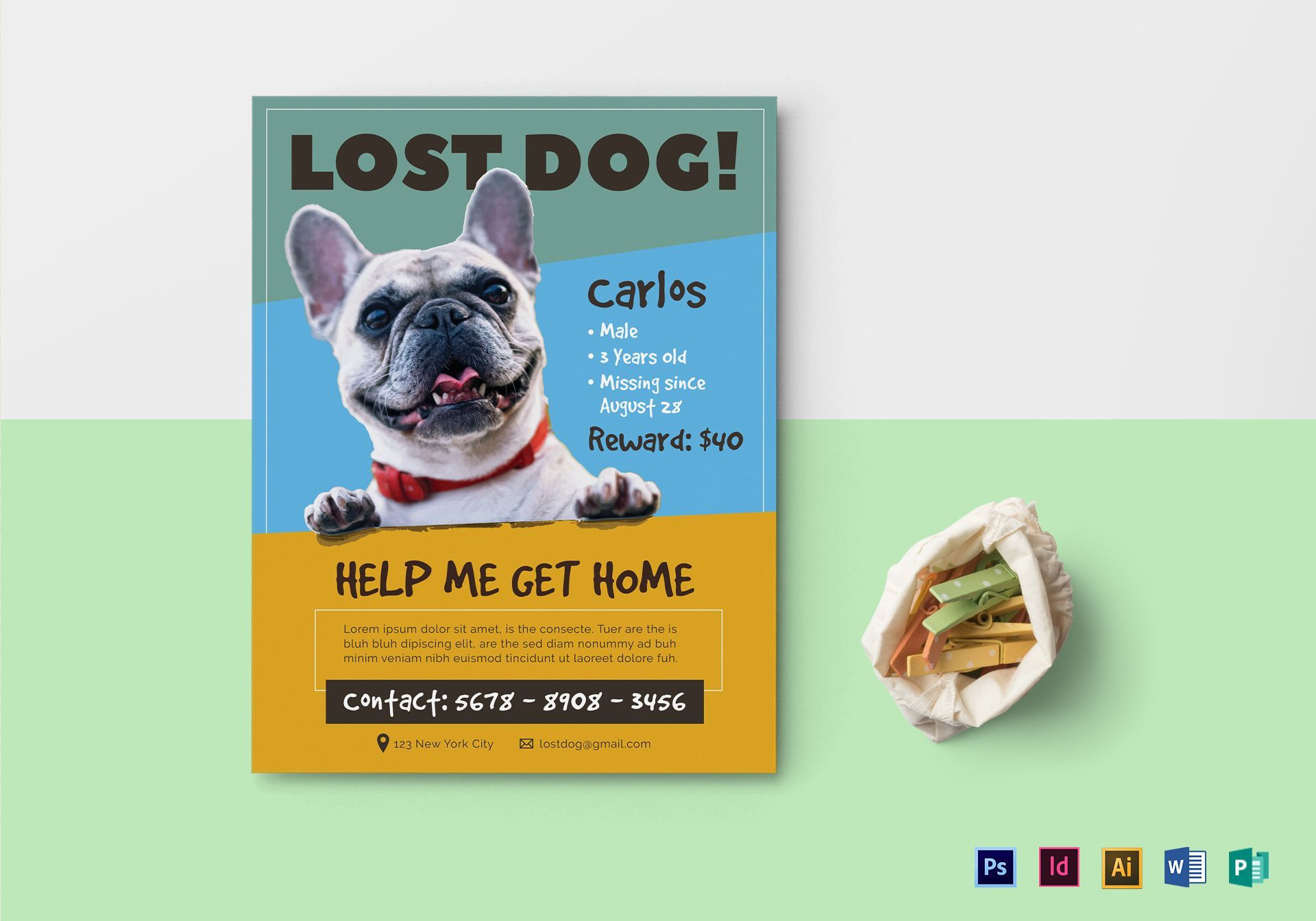 Lost Dog Flyer Template Losing A Dog Dog Walking Flyer Losing A Pet