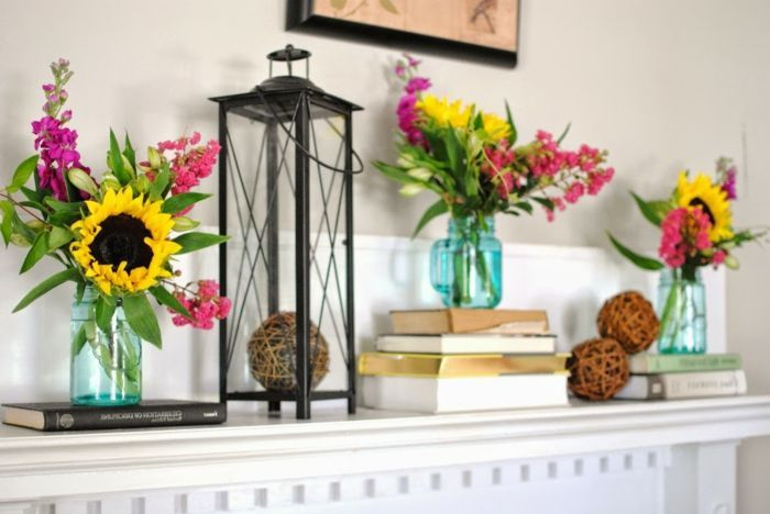 jarrones decorativos DIY hechos de frascos de vidrio decorados con - Trabajos Manuales