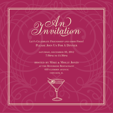In honor of party invitation templates dinner party invitation in honor of party invitation templates dinner party invitationeg others crafting pinterest dinner party invitations party invitation templates stopboris Image collections