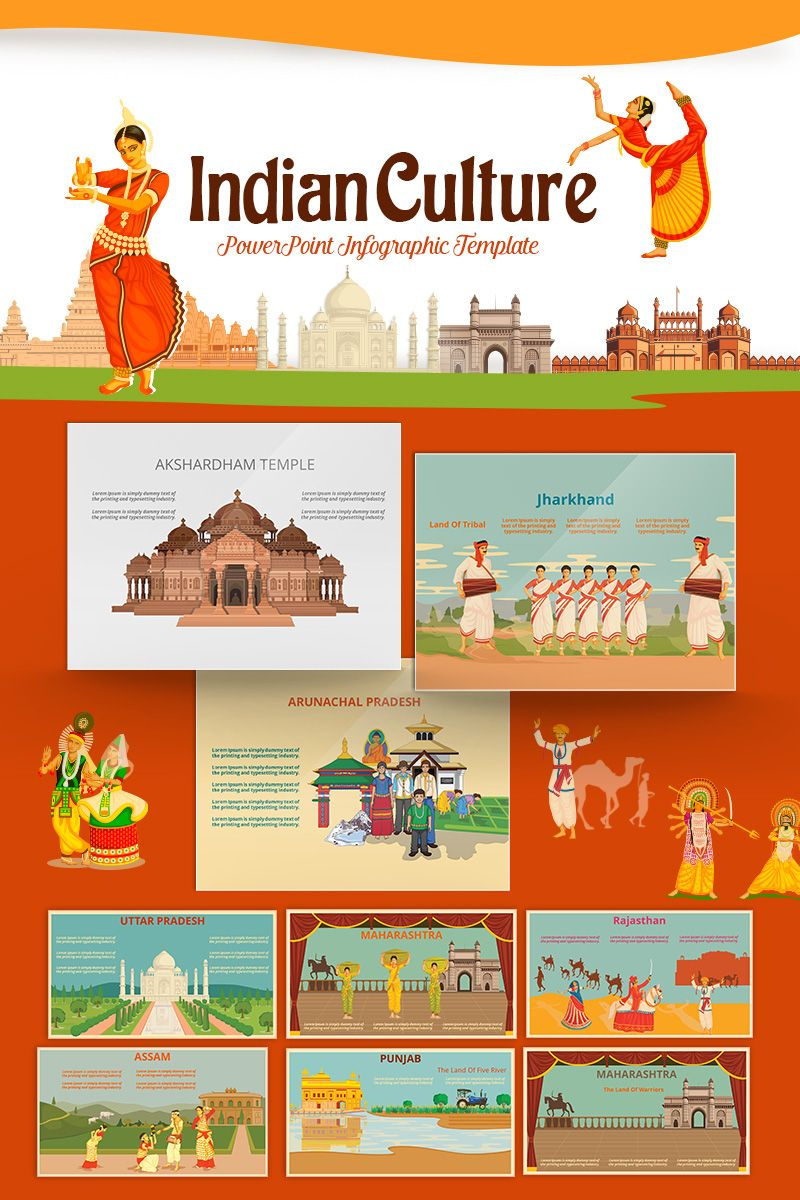 Indian culture powerpoint template #71433 | culture, templates.