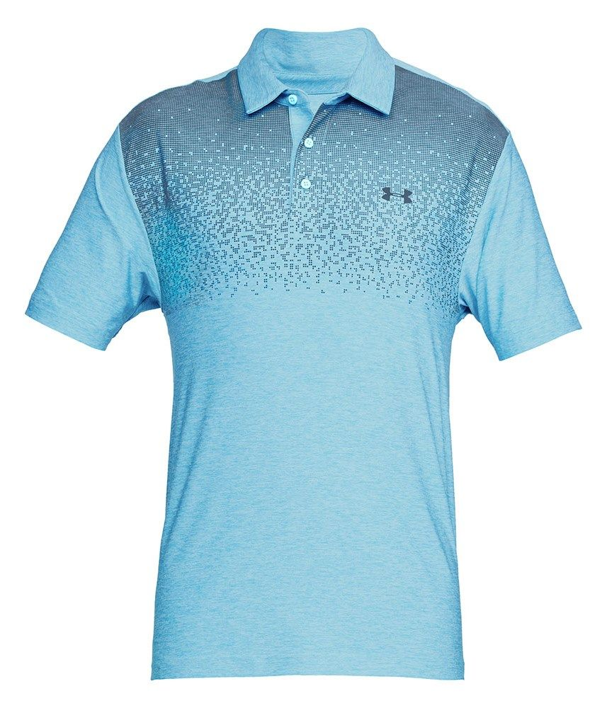 Under Armour Mens Playoff Graphic Print Polo Shirt Golfonline