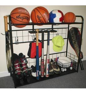 Garage Organization Ideas For Sports Equipment Athletic Gear Rack