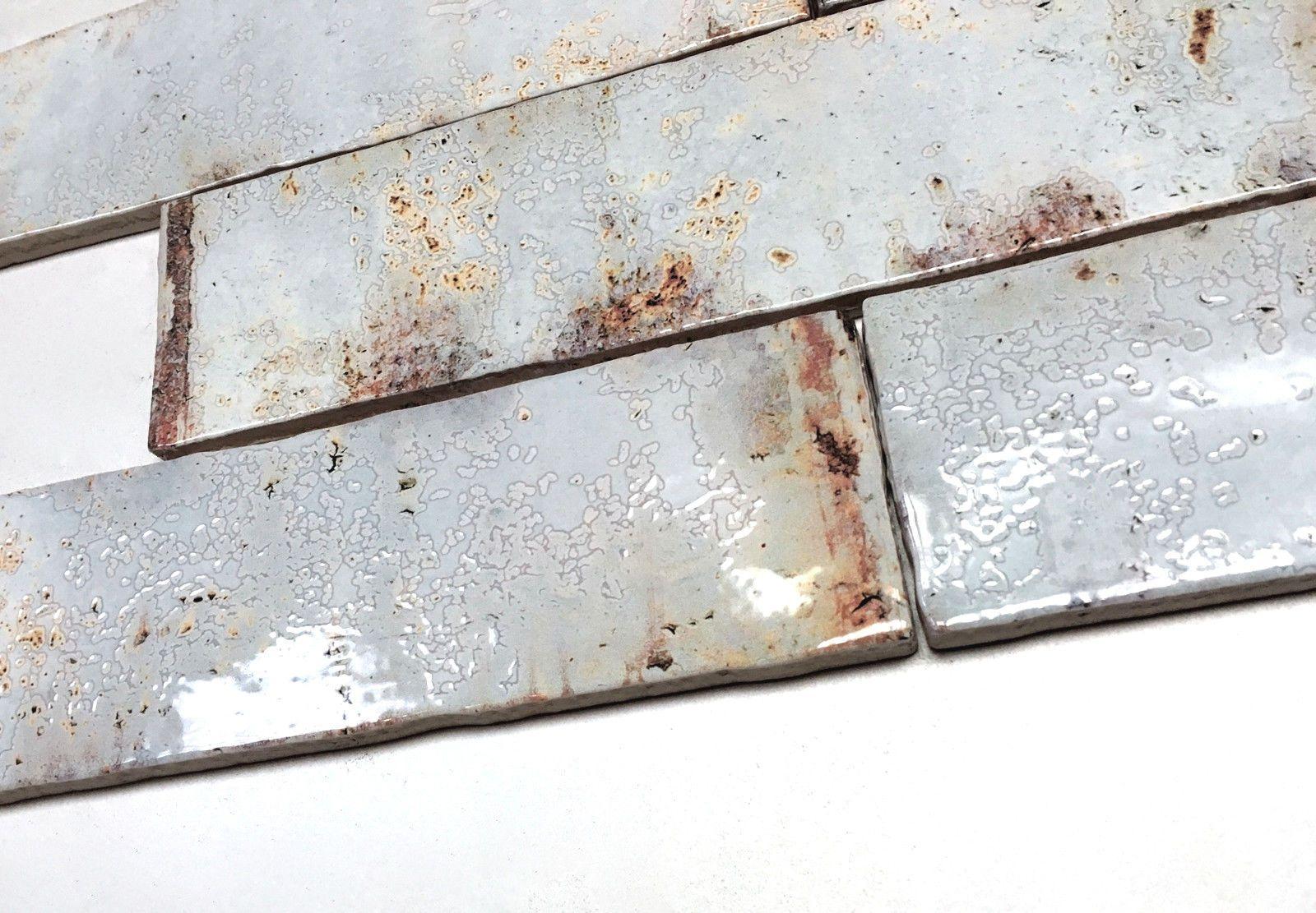 1sf, 4pcs 3x12 Palermo Collection Aqua Glazed Ceramic Tile Backsplash Decor Wall Bath