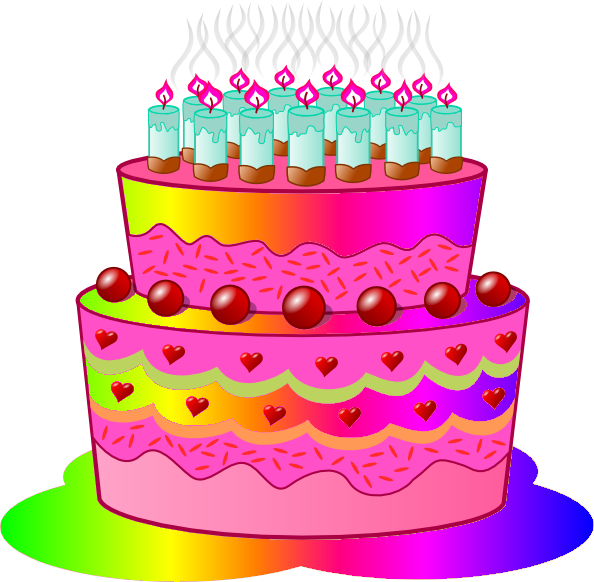 Superb Clipart Of A Birthday Cake Birthday Cake C Image Vector Clip Personalised Birthday Cards Veneteletsinfo