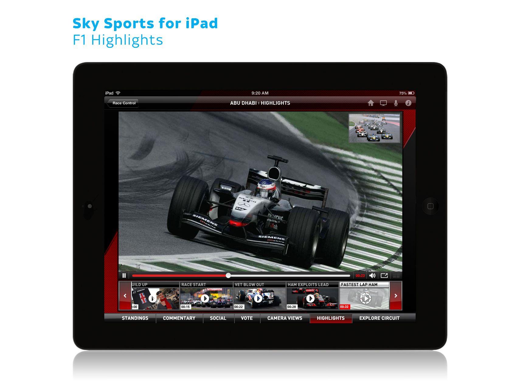 Sky Sports for iPad F1 05 Graphic card, Ipad, Sky