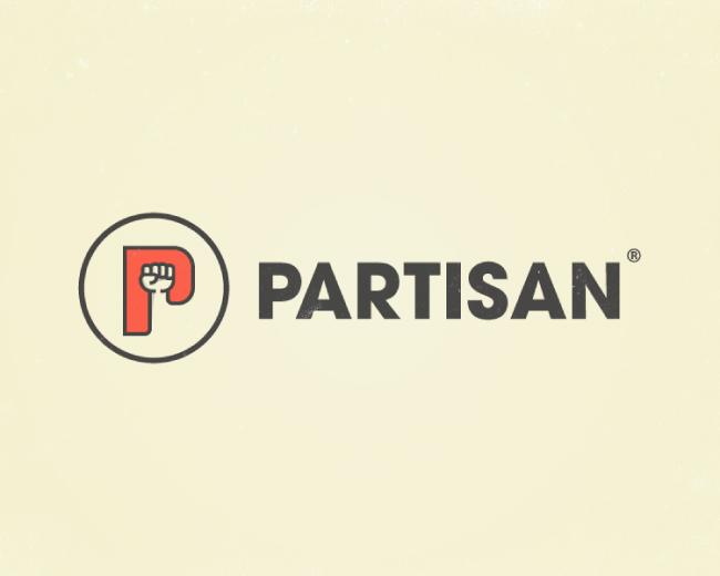 Partisan Logo Design Logomark, Logotype, Letter P