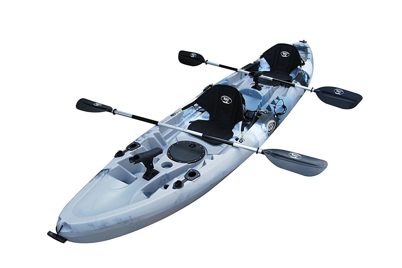Bkc Uh Tk219 12 Foot Tandem Sit On Top Kayak 2 Or 3 3 Person
