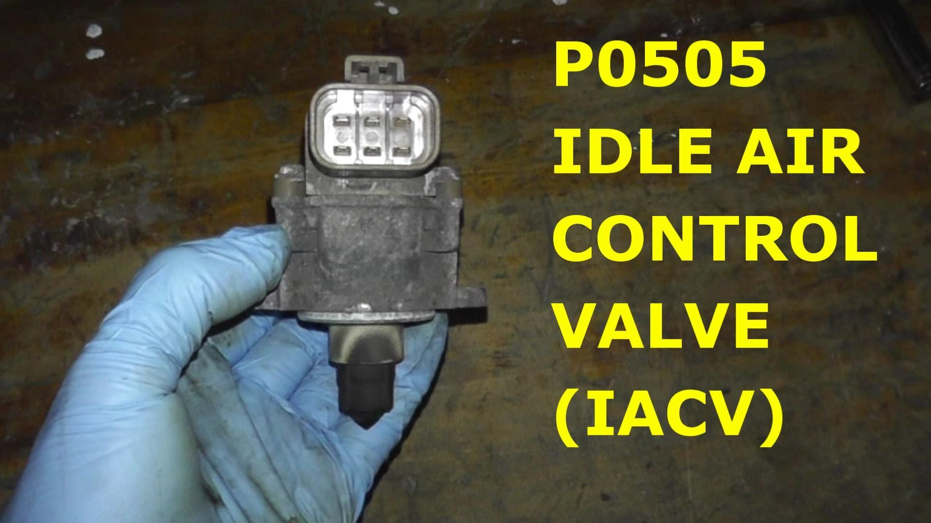 How To Test And Replace Idle Air Control Valve P0505 Hd Youtube Toyota Previa Fuel Filter Location