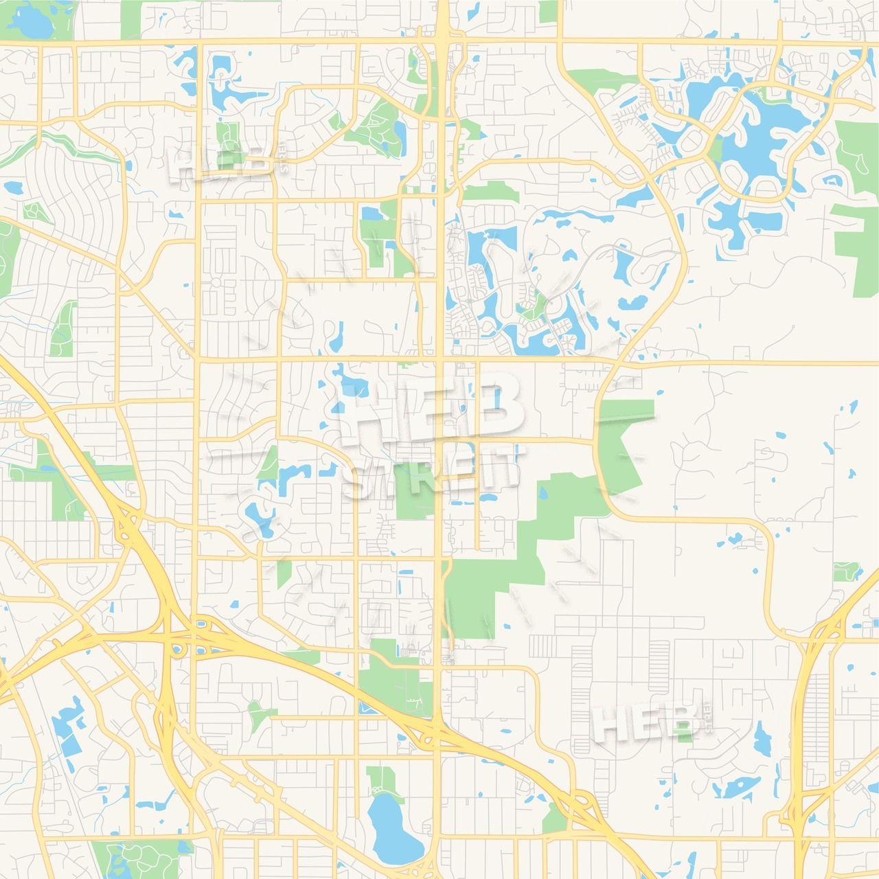 Empty vector map of Blaine, Minnesota, USA | Maps Vector ...