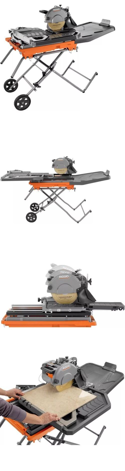 Tile Saws 122836 Ridgid Beast 10 In Wet Tile Saw With Stand Buy It Now Only 925 On Ebay Ridgid Beast Stand With Images Tile Saw Tile Saws Tiles