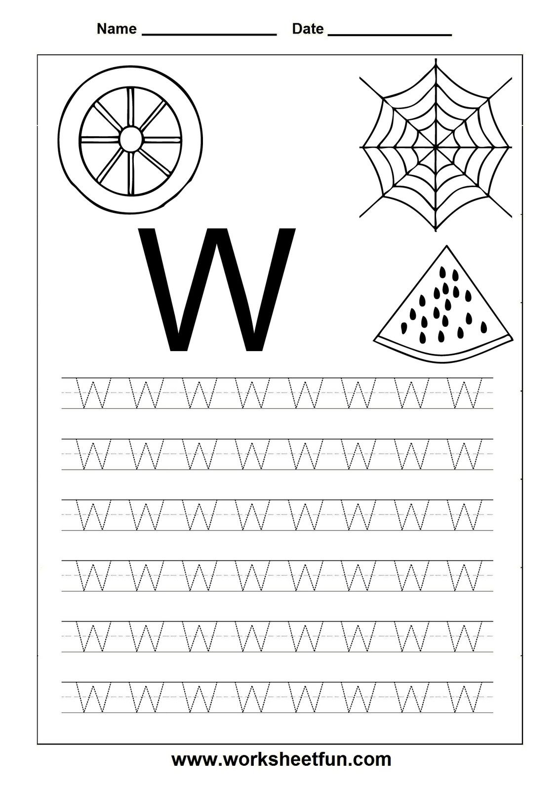 4 Worksheet Trace Lowercase And Uppercase Alphabet Free