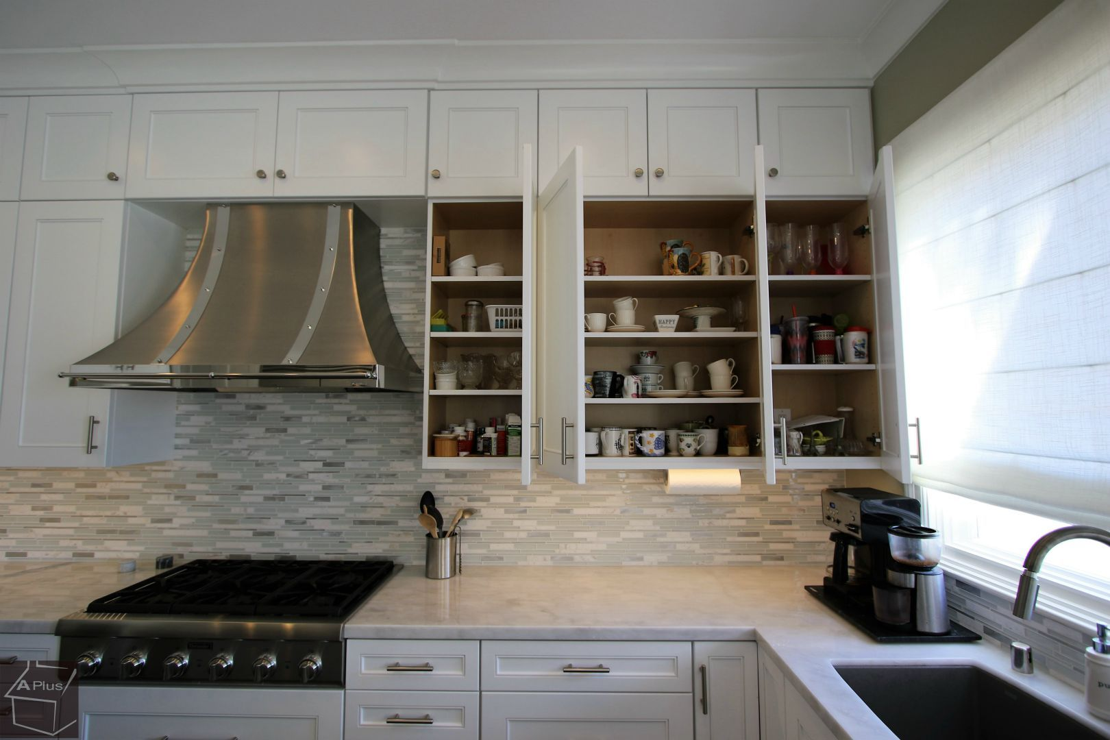 Custom White Cabinets Transitional White Design Build