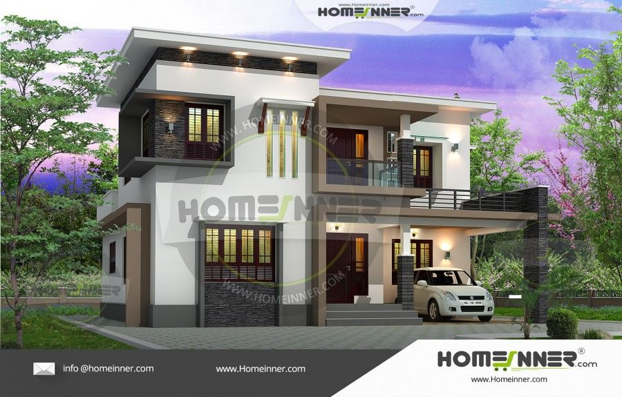 Ultra Modern 5 Bedroom Indian House Design Modern House Plans House Design Indian Home Design