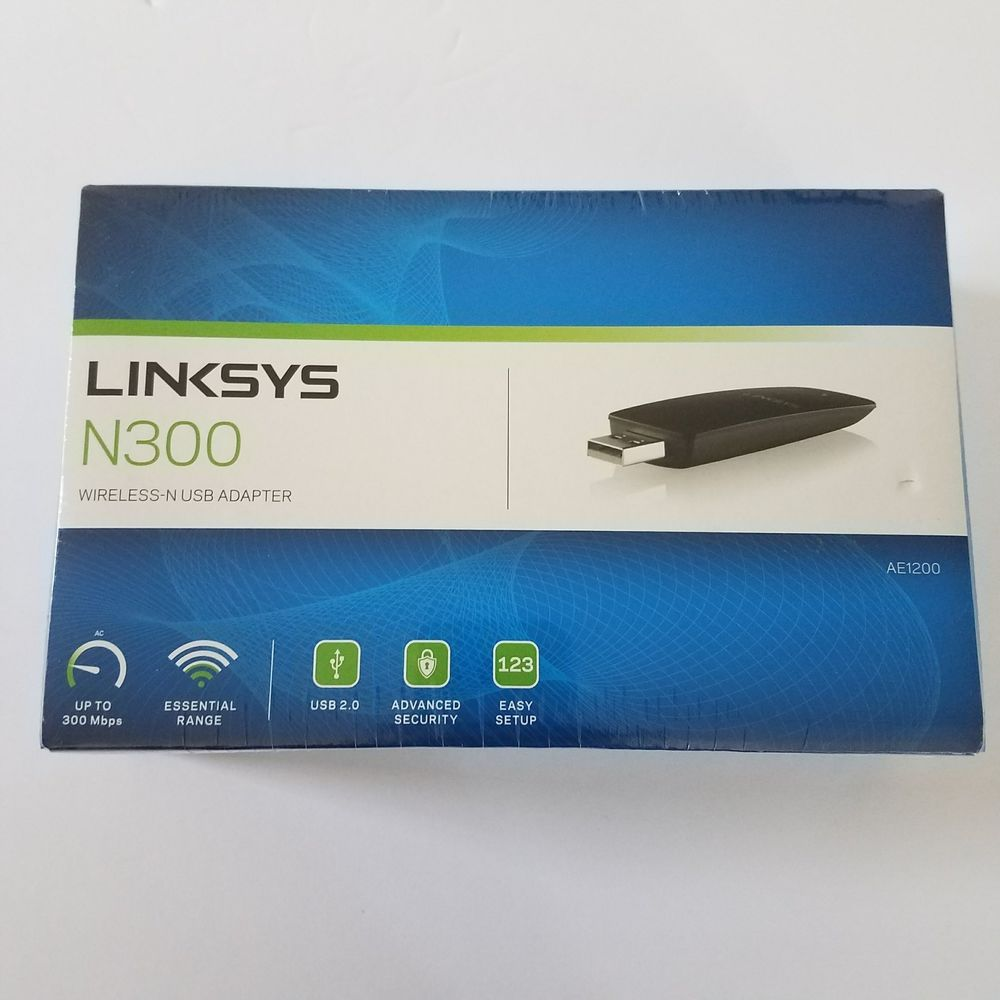 NEW Linksys AE1200 Wireless-N USB AE1200NP Wireless Adapter