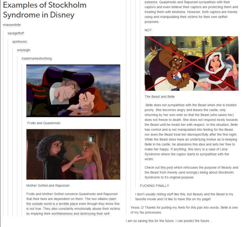 Beauty And The Beast Disney Stockholm Syndrome Disney Memes Disney Theory Disney Fun