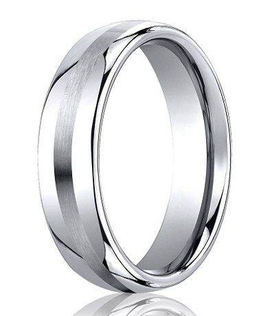 Cobalt Wedding Rings Satin Finish Center Line Cobalt Wedding Band Cobalt Wedding Men S Wedding Ring