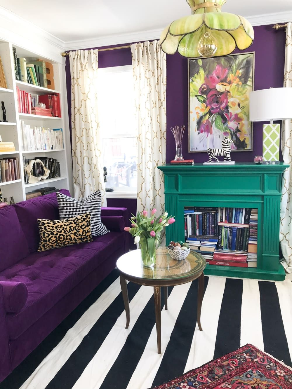 Photo of This Colorful Home's $250 Kitchen Refresh Isn't Even the Boldest Room in the House