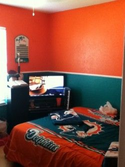 Miami Dolphins Themed Room Rooms The Finsiders