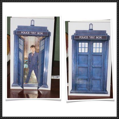 Doctor Who - tarjeta de felicitación 3D Diorama libre Papercraft Descargar