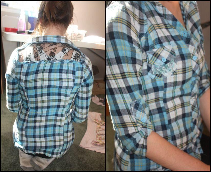 flannel shirt dress diy