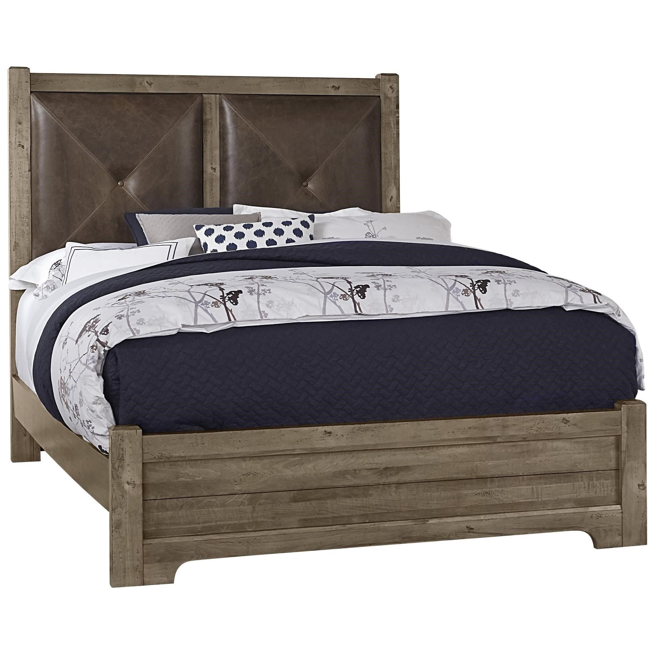Cool Rustic King Leather Headboard Bed By Artisan Leather Headboard Queen Upholstered Bed Furniture
