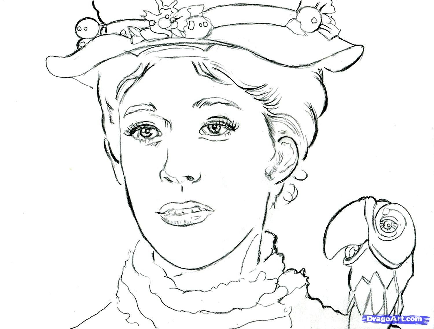 Colour in pages | Colouring Pages | Pinterest | Mary poppins and ...