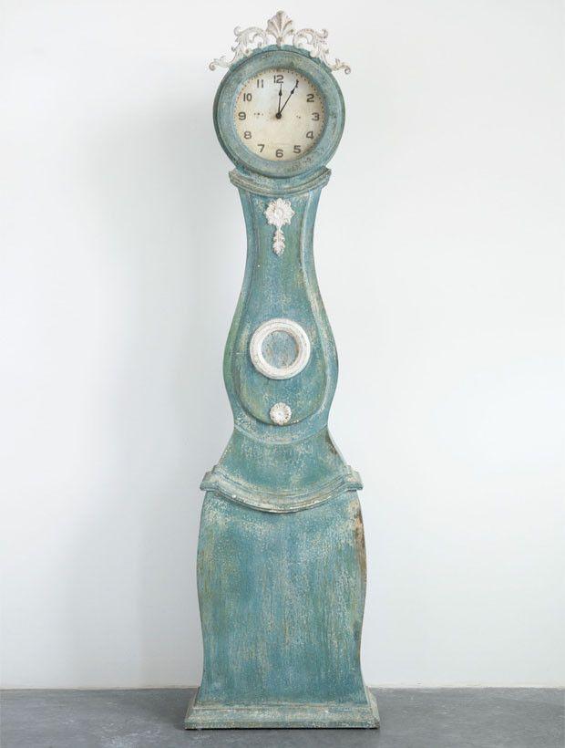 Aged Antique Style Standing Clock Antiques Clock Decor Clock