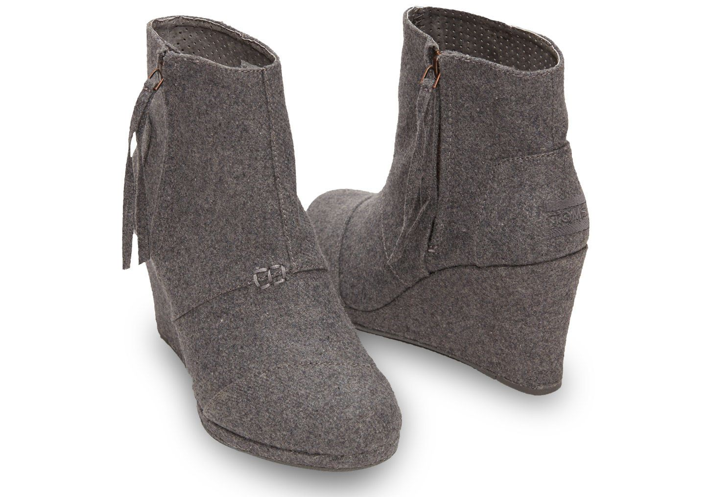 3c837e8c561 Grey Wool Women s Desert Wedge Highs