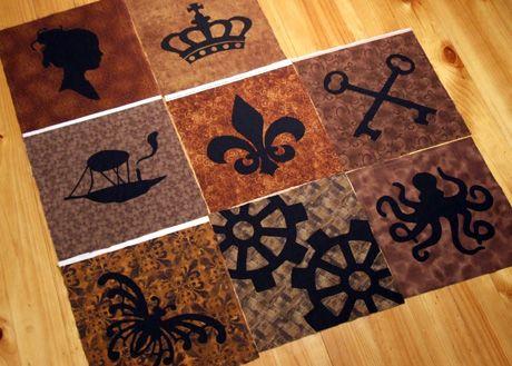 The Quilted Hen: Steampunk QAYG Quilt Progress | Learn to quilt ... : steampunk quilt tutorial - Adamdwight.com