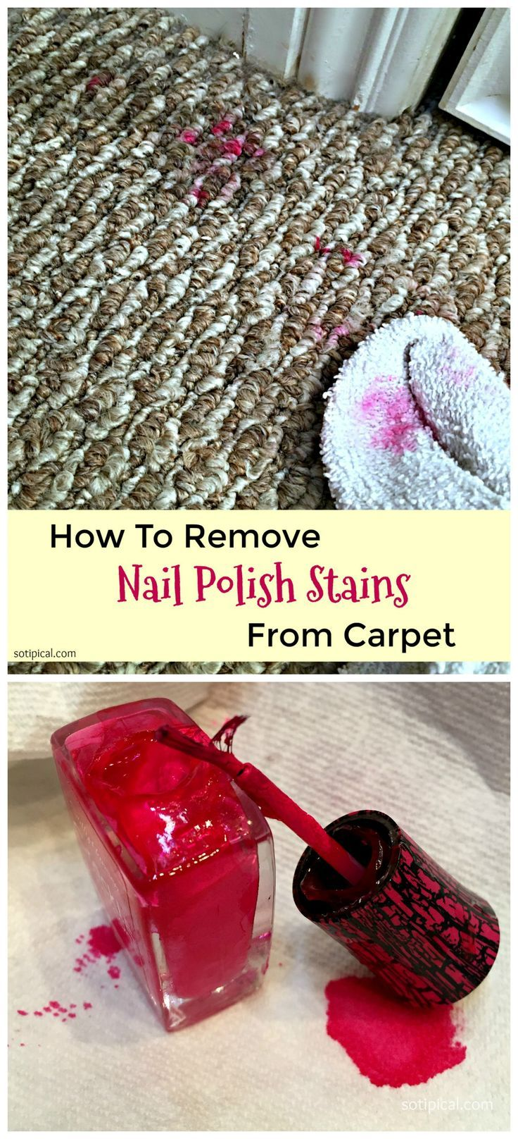 How to a remove nail polish stain from carpet so tipical