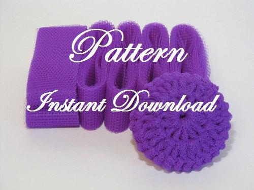 Scrubbie Pattern For Crocheted Nylon Netting Dish Scrubbies ...