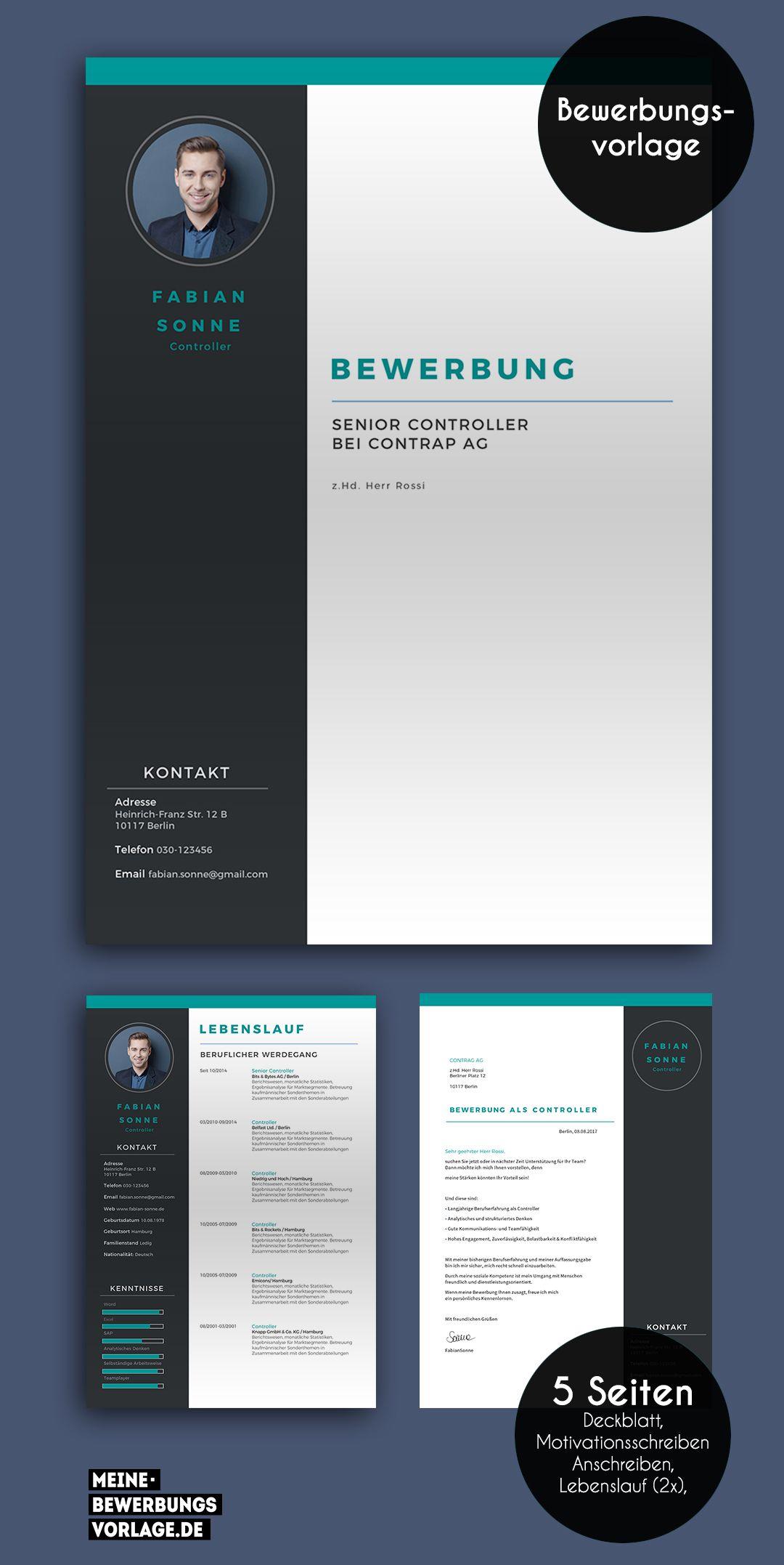 Bewerbung Titanus Design Vorlage Kostenloser Download
